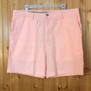 NWT Buffalo Jackson Flat Front Peach Cotton Shorts
